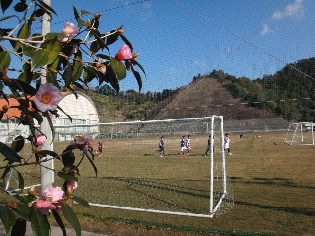 椿とサッカー部.JPG